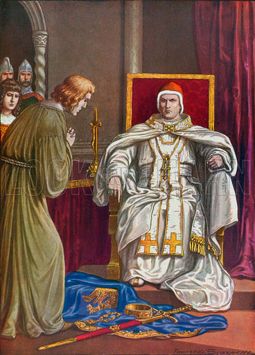 Holy Roman Emperor Henry IV doing penance to reverse his ...