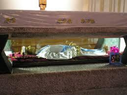 St Maria's body is kept in the crypt of the Basilica of Santa Maria delle Grazie e Santa Maria Goretti in Nettuno, south of Rome.