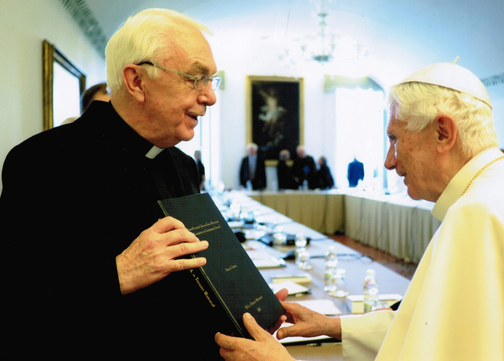 Dr D Vincent Twomey and Pope Emeritus Benedict XVI.