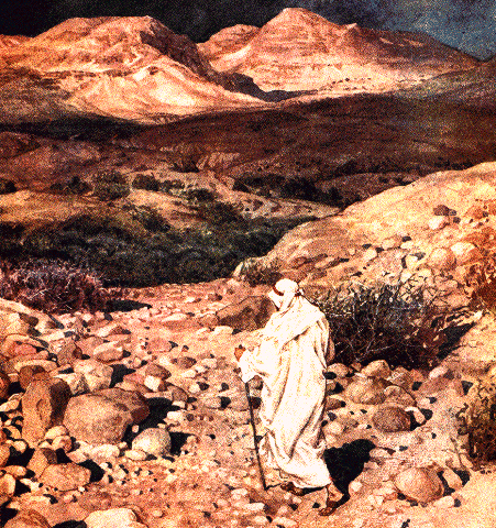 Jesus going into desert