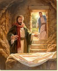 peter in tomb