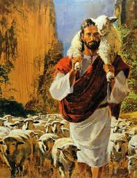 Jesus carrying sheep