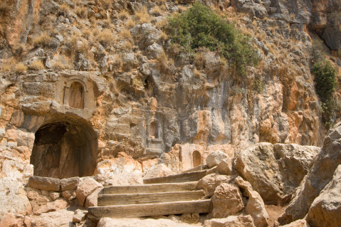 The ruins of Banias, known biblically as Caesarea Philippi