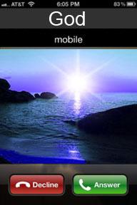Jesus' mobile phone