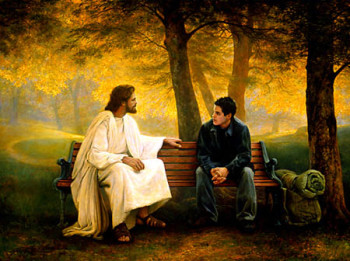 jesus sits talks with teenager