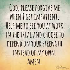 impatient prayer