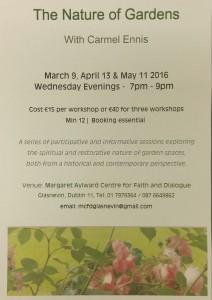 The Nature of Gardens-Carmel Ennis-Margaret Aylward Centre for Faith and Dialogue, Dublin 11 @ Margaret Aylward Centre for Faith and Dialogue