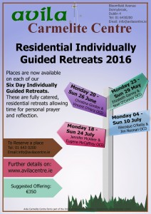 Six Day Individual Guided Retreat @ Avila Carmelite Centre | Dublin | Dublin | Ireland