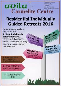 Six Day Individual Guided Retreat @ Avila Carmelite Centre   Dublin   Dublin   Ireland