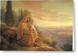 jesus looks to Jerusalem