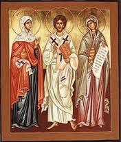 Jesus, Martha,and Mary icon