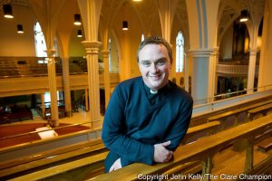 Castleconnell man Fr Ger Fitzgerald in Ennis Cathedral. Photograph by John Kelly.