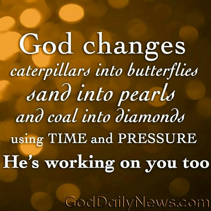 God changes things