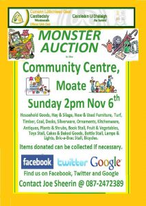 MONSTER AUCTION 2016 @ Moate Community Centre | Moate | County Westmeath | Ireland