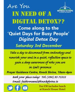 Digital Detox Day Retreat @ Prayer Guidance Centre | Knock | County Mayo | Ireland