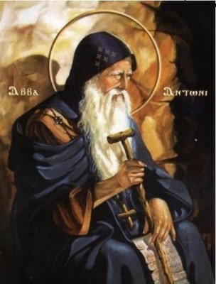 Abba Antonius (Ἀββᾶς Ἀντώνιος), and Father of All Monks,