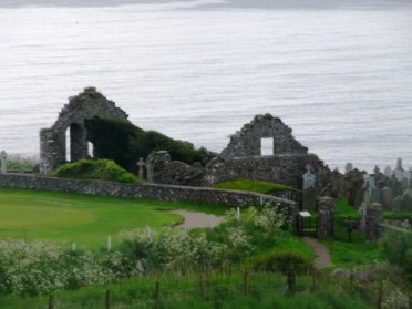 St Nathalan is reputed to have built the first small chapel at Cowie on this windswept clifftop sometime during the 7th century.