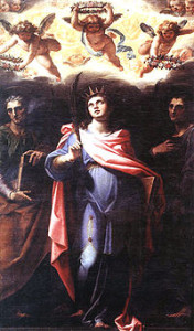 Domitilla, with Saints Nereus and Achilleus, by Niccolò Circignan