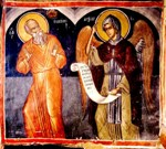 An Angel appeared to Pachomius in the robes of a monk of the Great Habit at the place called Tabennisi and gave him a tablet on which was written the Rule