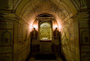 The Tomb of the Apostles Ss. Philip and James, in the crypt of the church of the Twelve Apostles