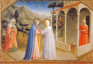 The visitation of Mary to Elizabeth by Fra Angelico