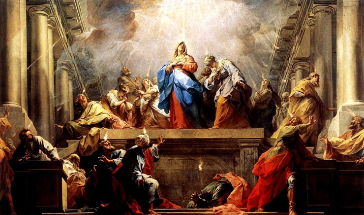 From the treatise 'Against Heresies' A Homily for Pentecost Sunday by Saint Irenaeus, bishop (125-203). Pentecost - Painting by El Greco - 1610