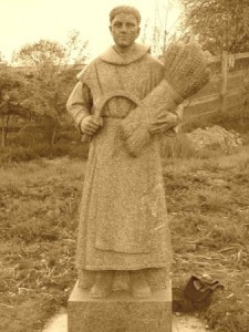 This statue of Saint. Moling is just outside the town of Graignamanagh.