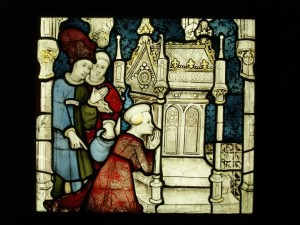 St. William, you were chosen by God to be William, Archbishop of York, was unjustly accused of sin. -Window panel in the Cathedral