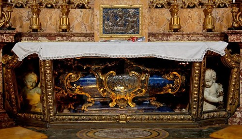 Tomb of Saint Aloysius Gonzaga in the Church of Saint Ignatius, Rome