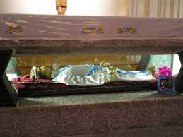 St Maria's body is kept in the crypt of the Basilica of Santa Maria delle Grazie e Santa Maria Goretti in Nettuno, south of Rome.