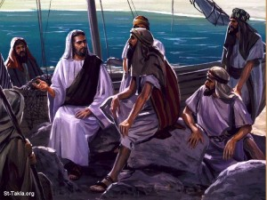 jesus preaches from boat2
