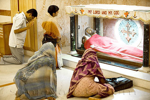 The Christians in south west India called Thomas Christians due to the missionary efforts of Saint Thomas. St. Thomas the Apostles Tomb Chennai Madras