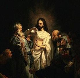 Jesus showing St Thomas his wounds ...Rembrandt
