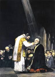 The last Communion of St Joseph Calasanz as painted by the spanish painter Goya.