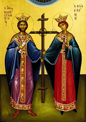 Icon of Ss Constantine and Helen provided by Athanasios Clark and used with permission.