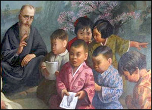 In 1930, with little money and no knowledge of Japanese, St. Maximilian and four brothers travelled to Nagasaki, Japan, where they began their missionary work teaching children.