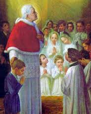 It was Pius X who opened Holy Communion to little children. He invited the Catholic faithful to frequent, even daily Holy Communion