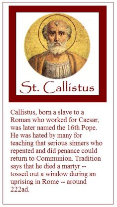 a biography of pope callistus Pope callistus iii please help support the mission of new advent and get the full contents of this website as an instant download includes the catholic encyclopedia, church fathers, summa.