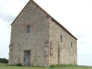 This Saxon Chapel of St Cedd was built in 654 astride the western wall of the Roman Fort of Othona.