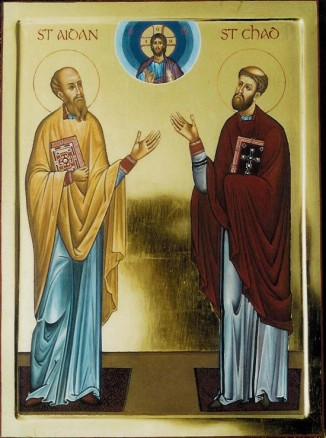 As a young man he had his early training under St Aidan on the holy island of Lindisfarne. Aidan was said like Christ to have chosen twelve disciples including St Chad