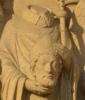 Statue of St Denis in Notre Dame Cathedral, Paris