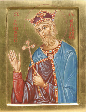 """Edward the Confessor was crowned King of England. Elected by popular acclamation, Edward (known as """"the Confessor"""" for his piety) had Norman sympathies"""