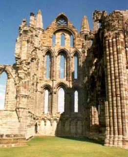 11th century remains of Whitby Abbey, founded in the 7th century by Hilda of Whitby.