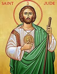 St. Jude. Patron of desperate situations; forgotten causes; hospital workers; hospitals; impossible causes; lost causes