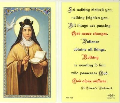 Oct 15 - St Teresa of Avila(2) 1515-82 reformer and Discalced
