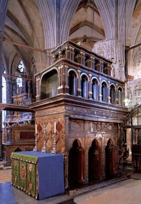 Edward the Confessor's shrine in Westminster Abbey, © Dean and Chapter of Westminster. Edward Confessor's shrine in Westminster Abbey