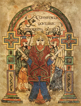 The Book of Kells is believed to have been created sometime around 800A.D, when Ireland was indeed the Island of Saints and Scholars.