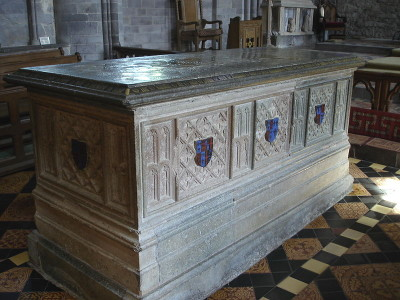 Saint King Edmund's tomb at Windsor Castle.