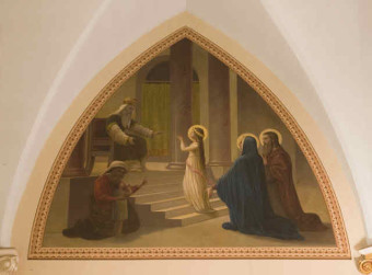 As a child, tradition tells us that Mary was taken to the temple, where she was offered, presented to God.