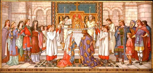 Marriage of St Margaret Margaret married Malcolm III 'Canmore' of Scotland in c.1070. Margaret would have been about 24 years of age and Malcolm about 47